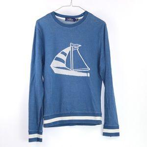 Top shop TOPMAN blue yacht sailing cotton sweaters